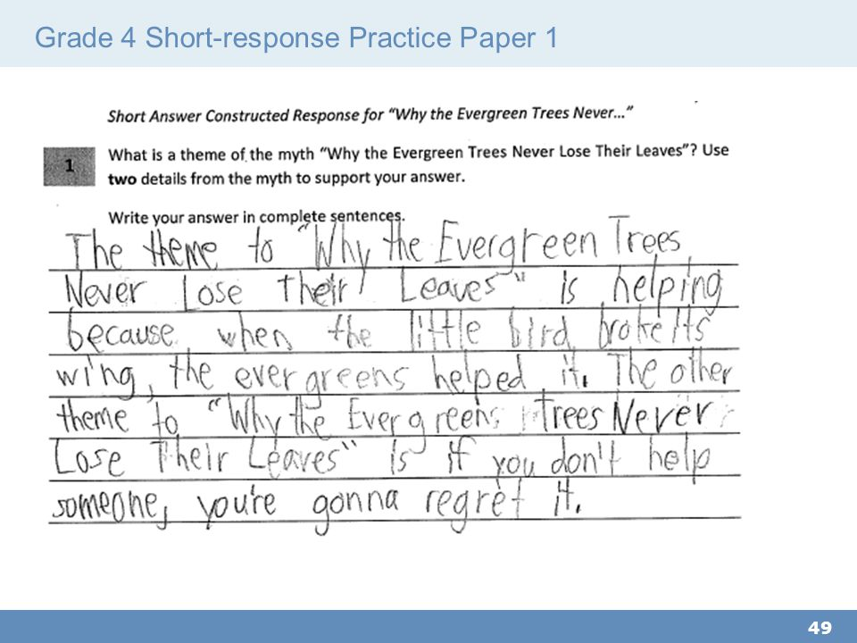 Grade 4 Short-response Practice Paper 1