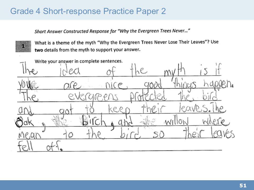 Grade 4 Short-response Practice Paper 2