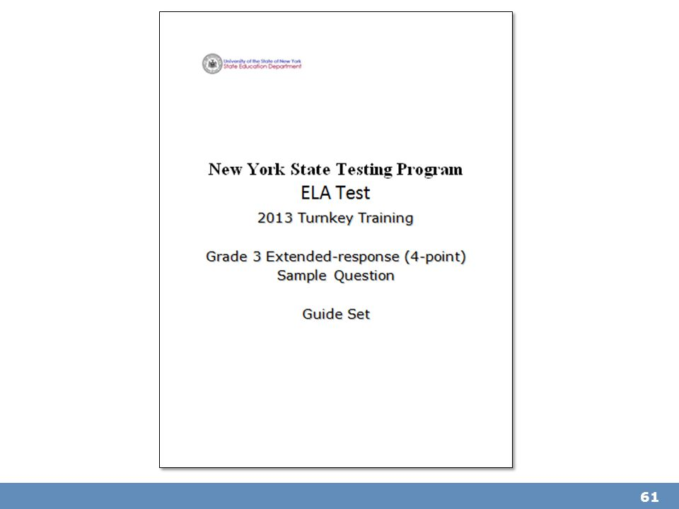 Refer participants to the Grade 3 Extended-response (4-Point) Sample Question Guide Set packet.