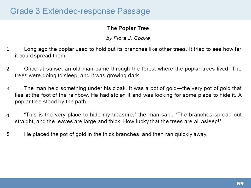 Grade 3 Extended-response Passage