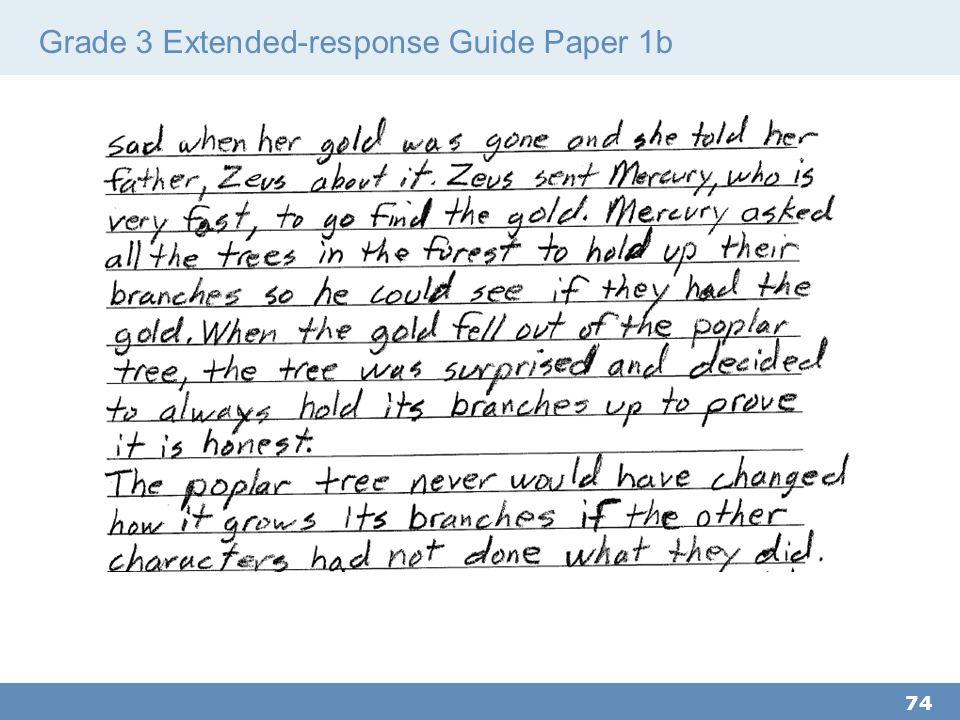 Grade 3 Extended-response Guide Paper 1b