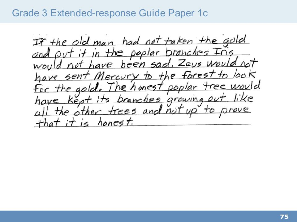 Grade 3 Extended-response Guide Paper 1c