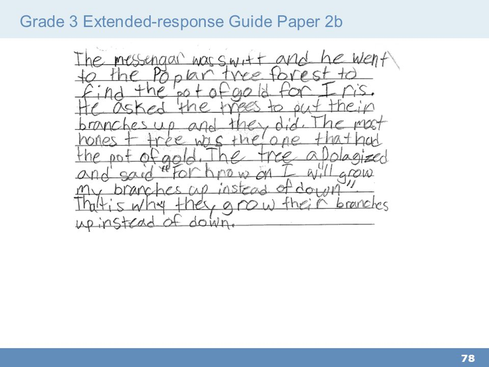 Grade 3 Extended-response Guide Paper 2b