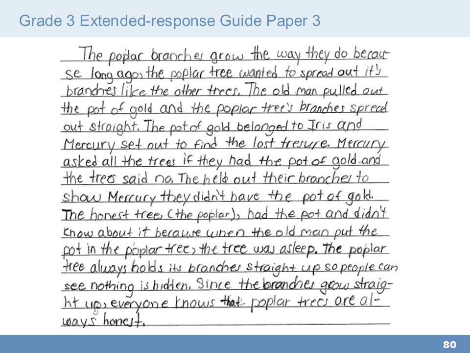 Grade 3 Extended-response Guide Paper 3