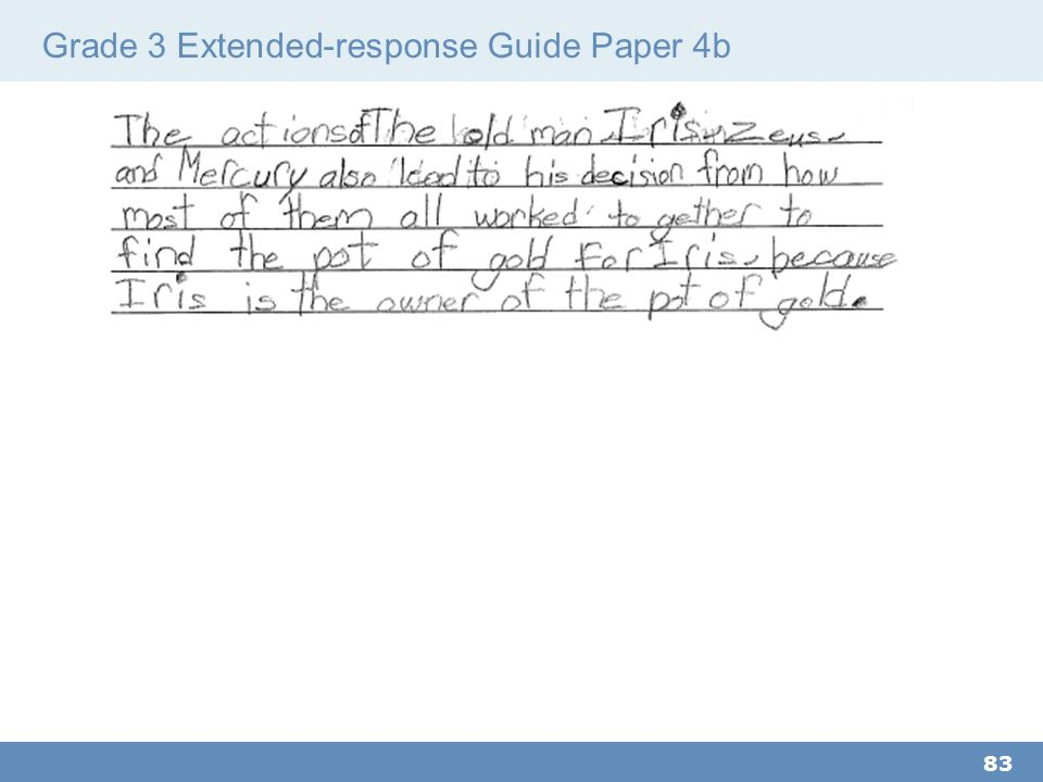 Grade 3 Extended-response Guide Paper 4b