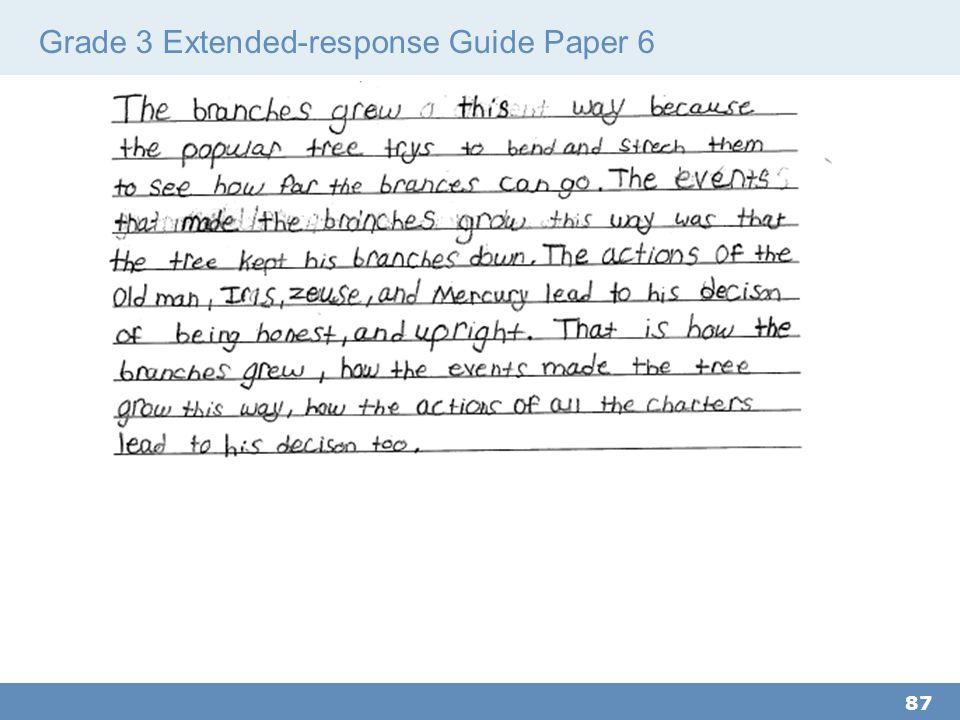 Grade 3 Extended-response Guide Paper 6