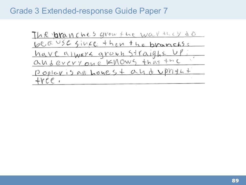 Grade 3 Extended-response Guide Paper 7