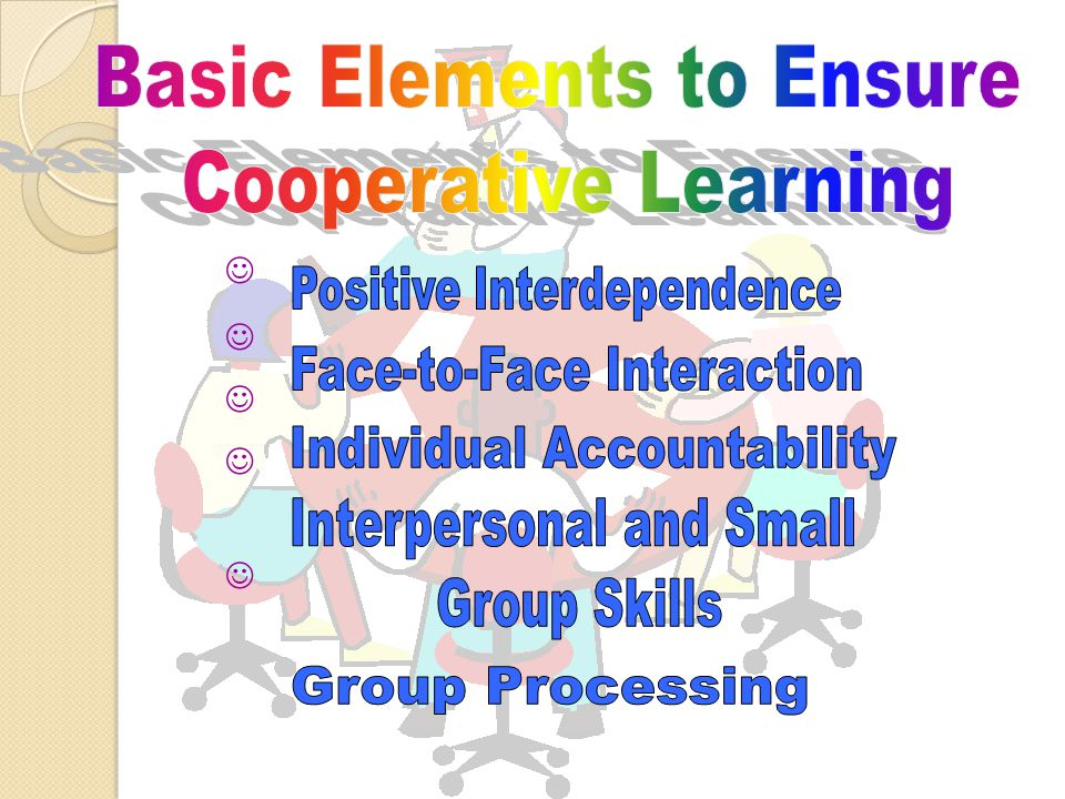 Basic Elements to Ensure Cooperative Learning