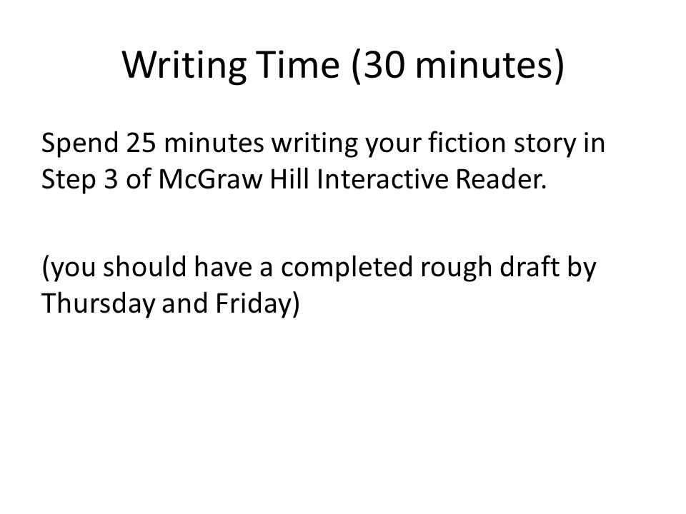 Writing Time (30 minutes)