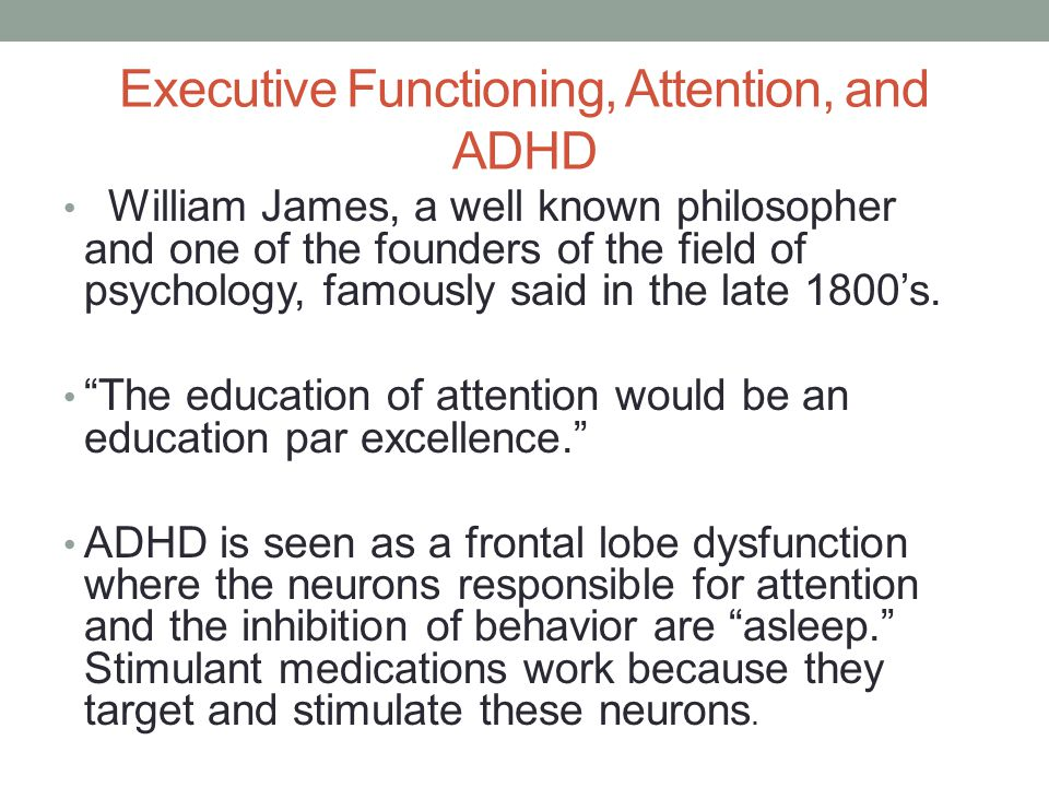 Executive Functioning, Attention, and ADHD