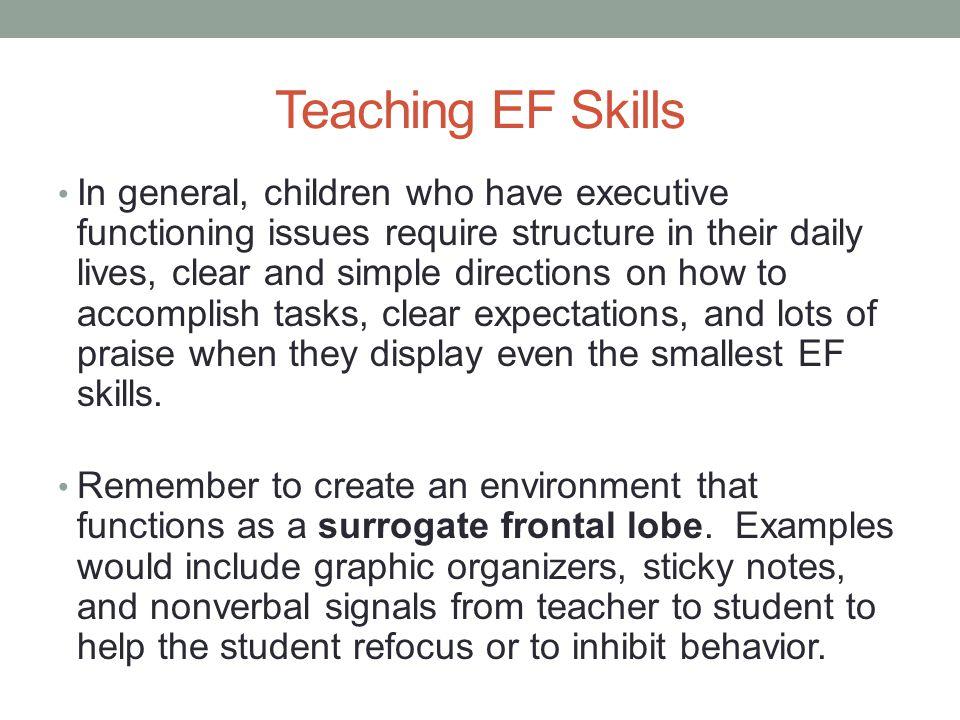 Teaching EF Skills