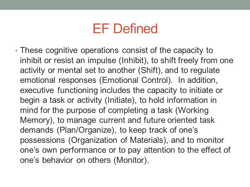 EF Defined