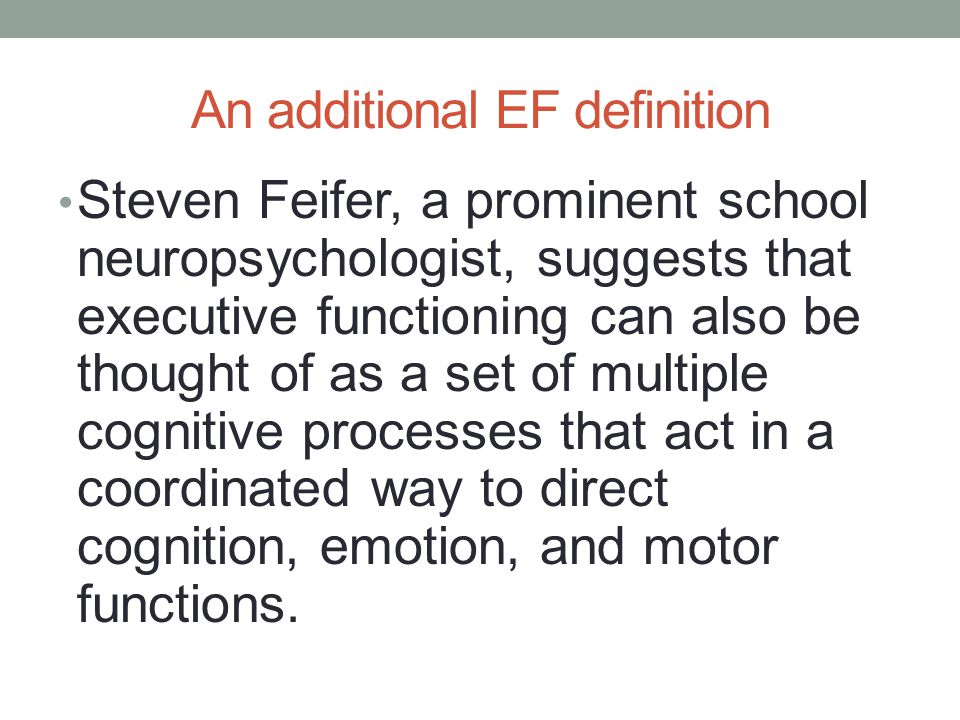 An additional EF definition