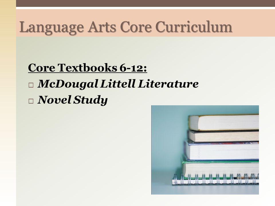 Language Arts Core Curriculum