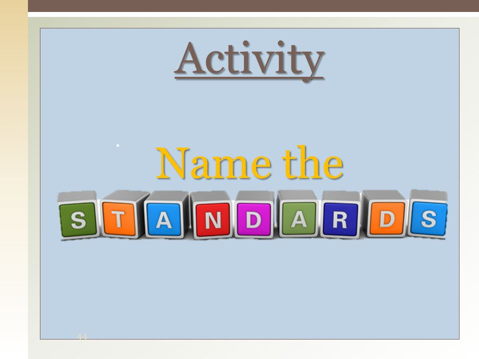 Activity Name the