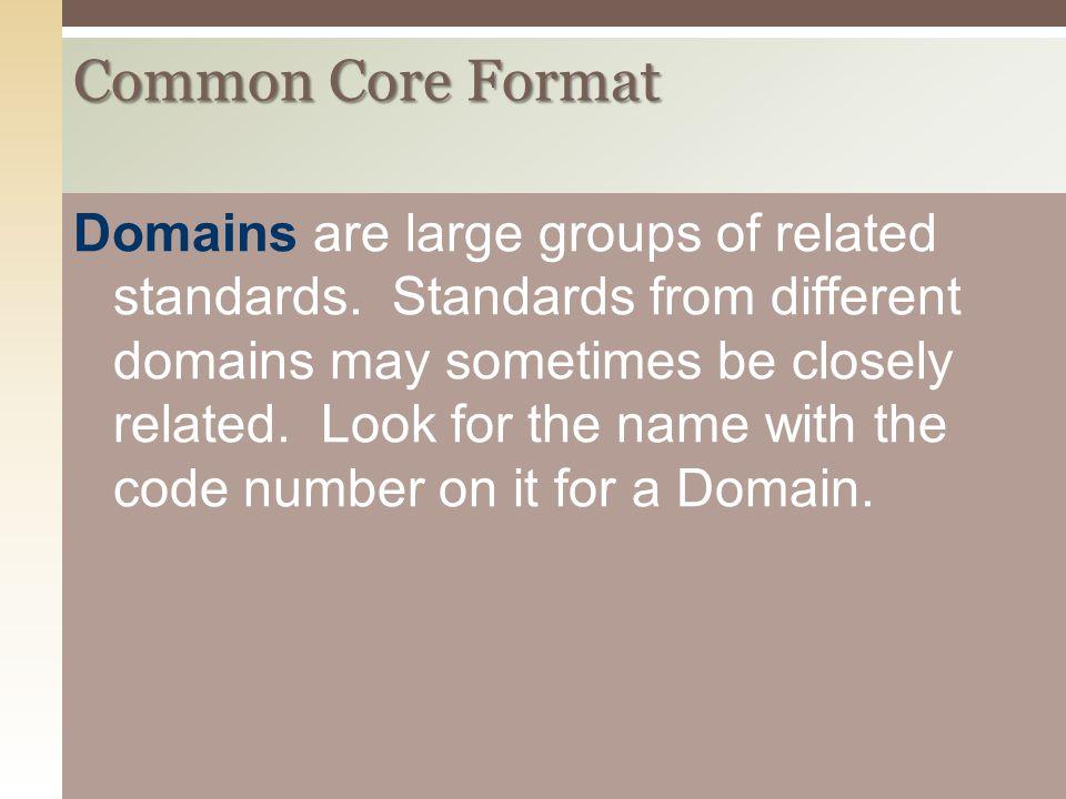 Common Core Format