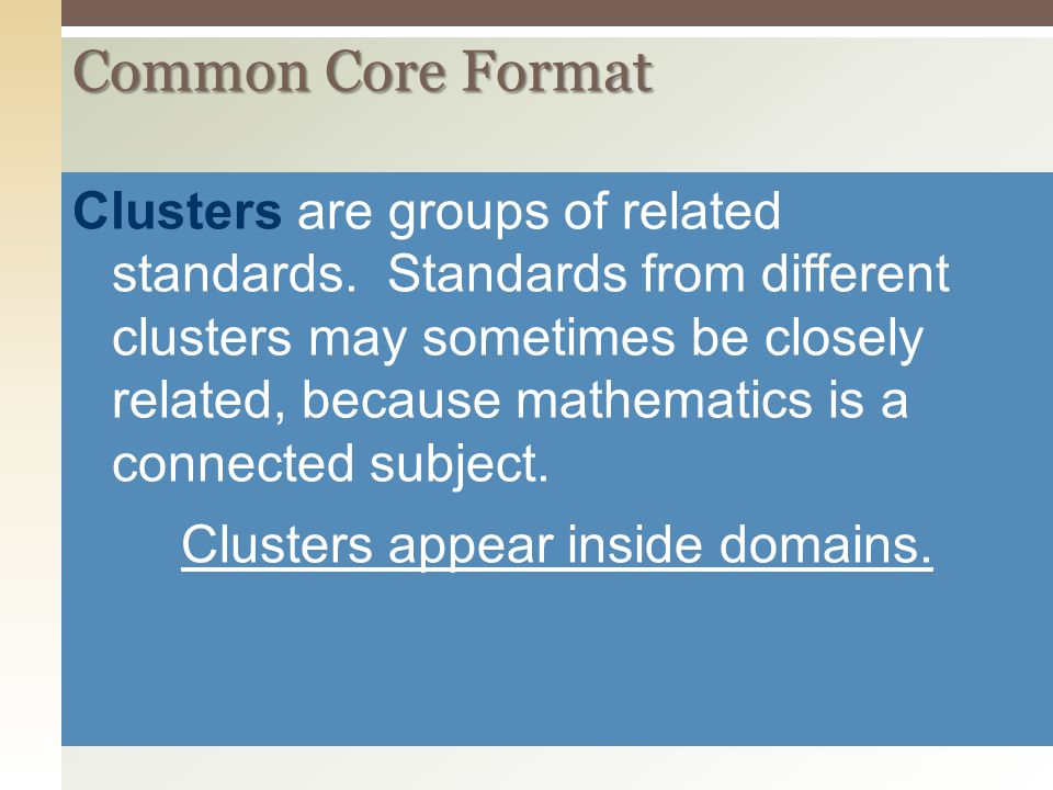 Clusters appear inside domains.