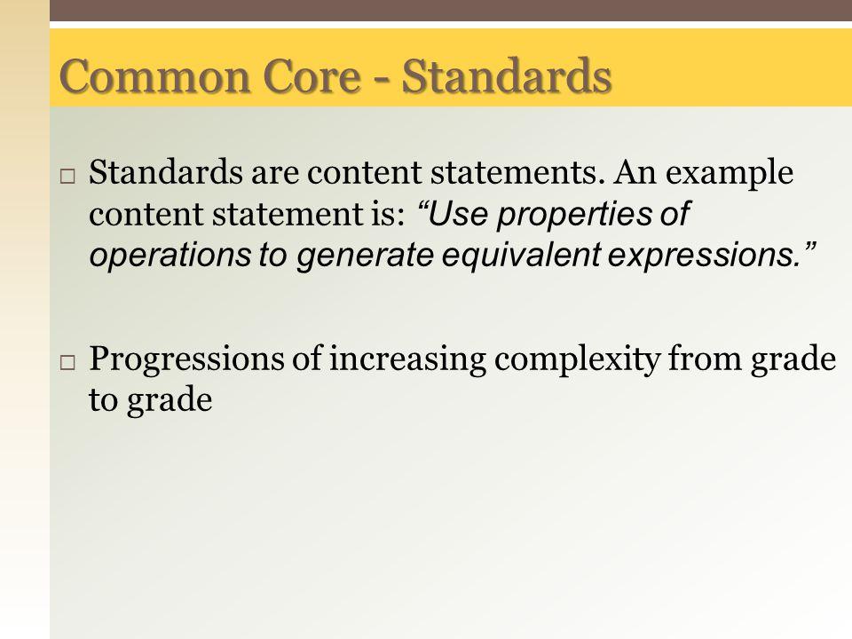 Common Core - Standards