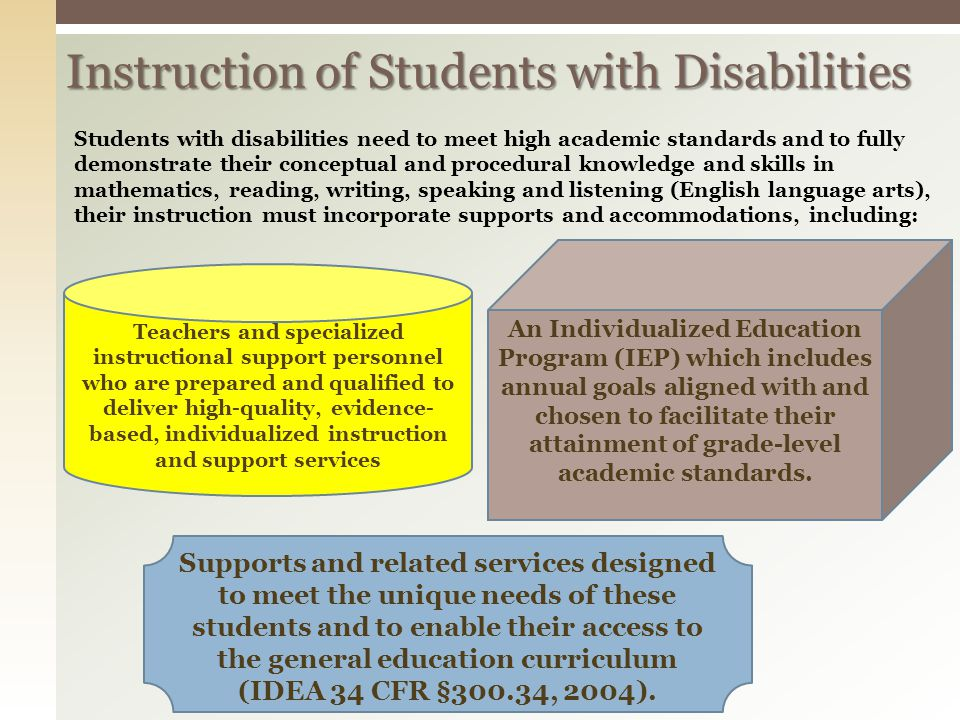 Instruction of Students with Disabilities