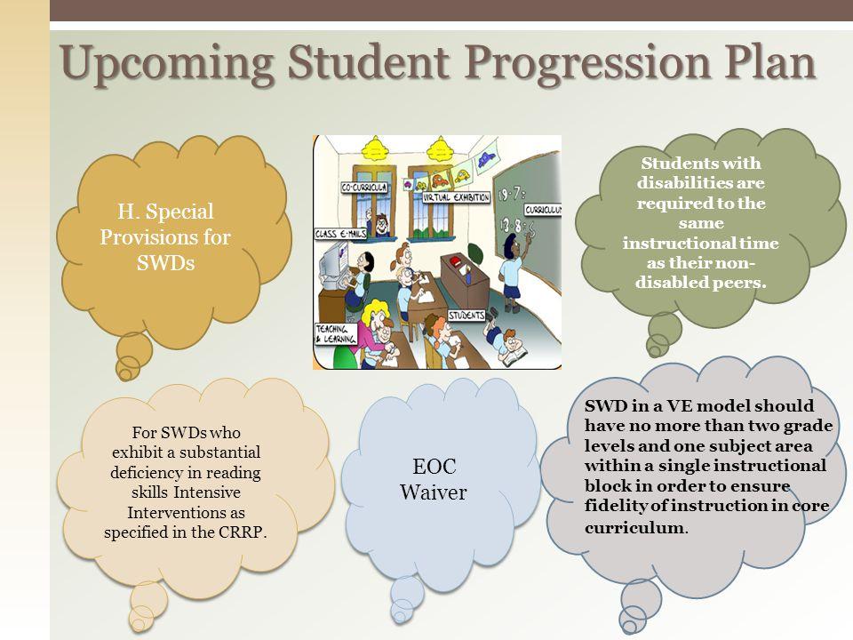 Upcoming Student Progression Plan
