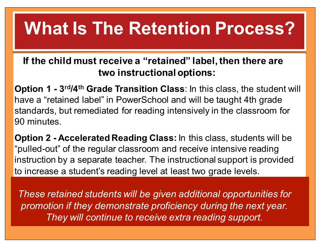 What Is The Retention Process