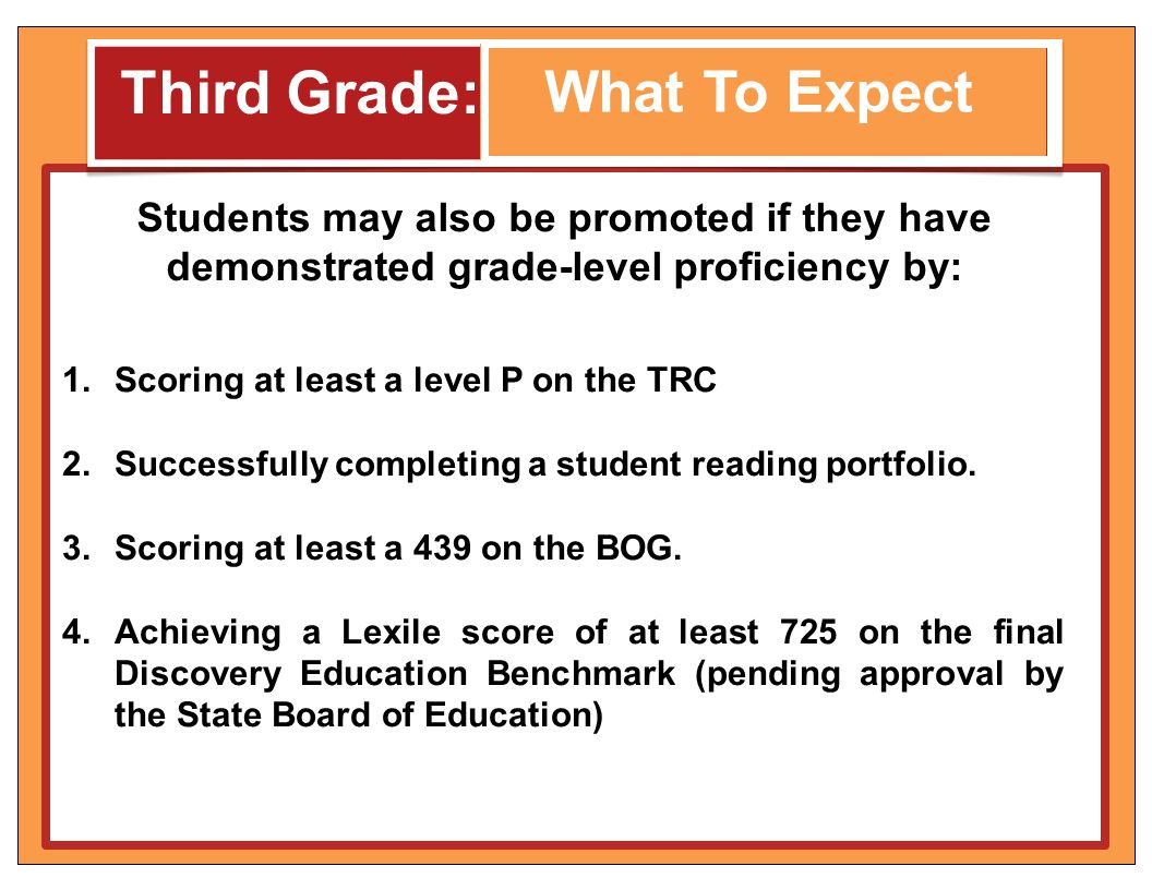 Third Grade: What To Expect