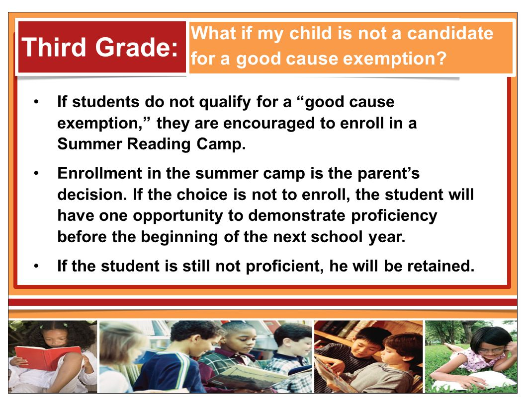 What if my child is not a candidate for a good cause exemption