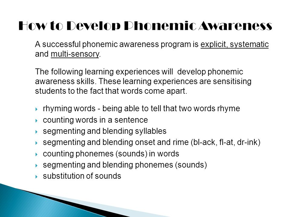 How to Develop Phonemic Awareness