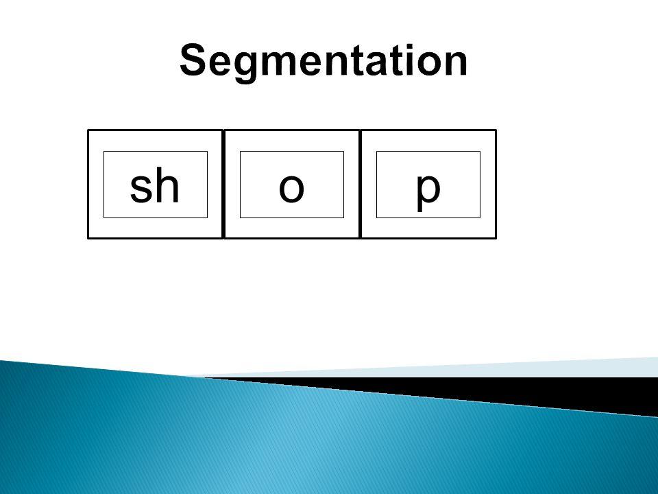 Segmentation sh o p Using letter tiles