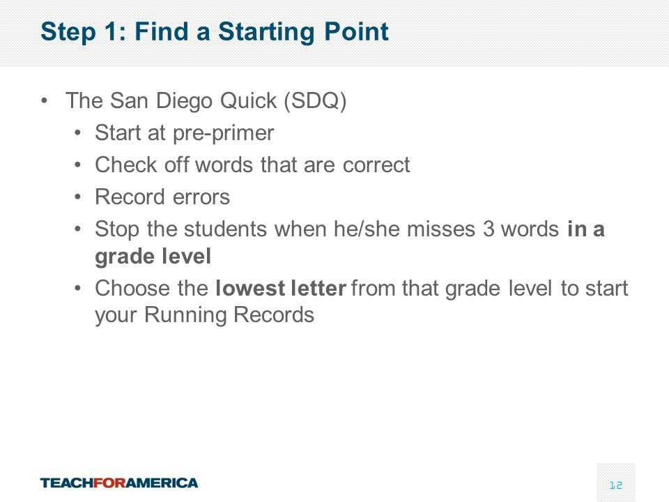 Step 1: Find a Starting Point