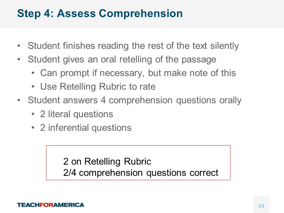 Step 4: Assess Comprehension