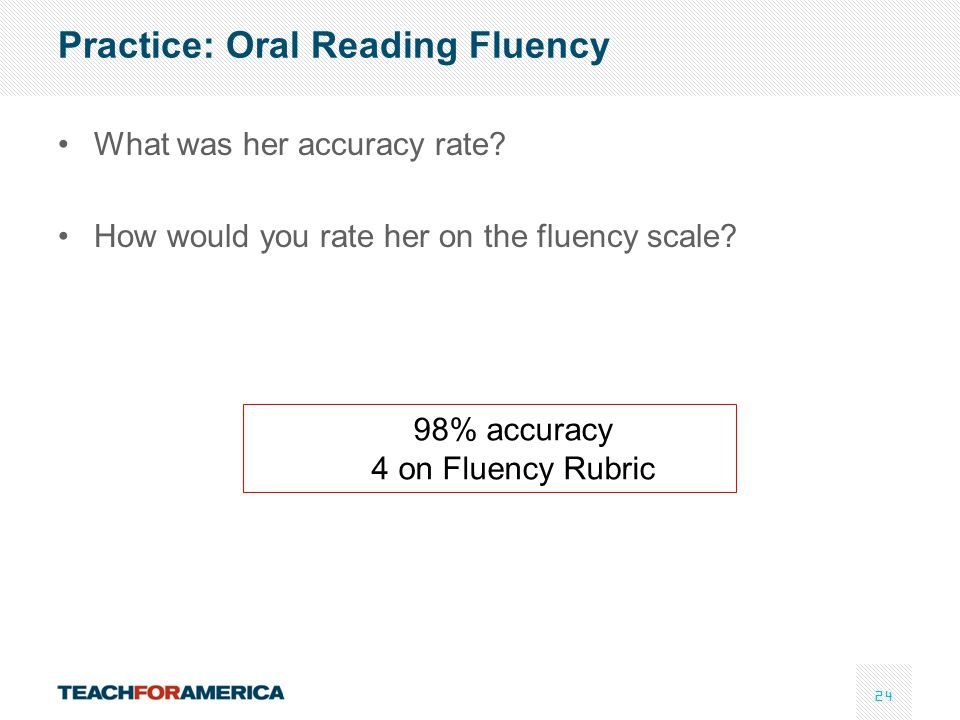 Practice: Oral Reading Fluency