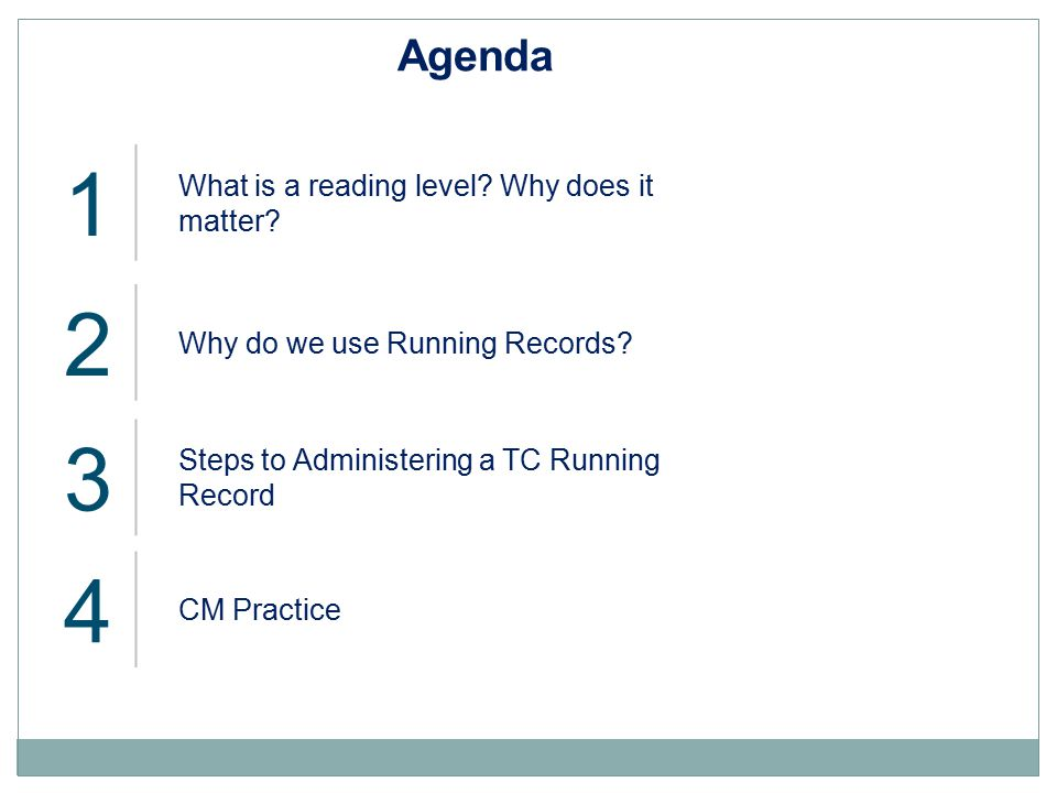 1 2 3 4 Agenda What is a reading level Why does it matter