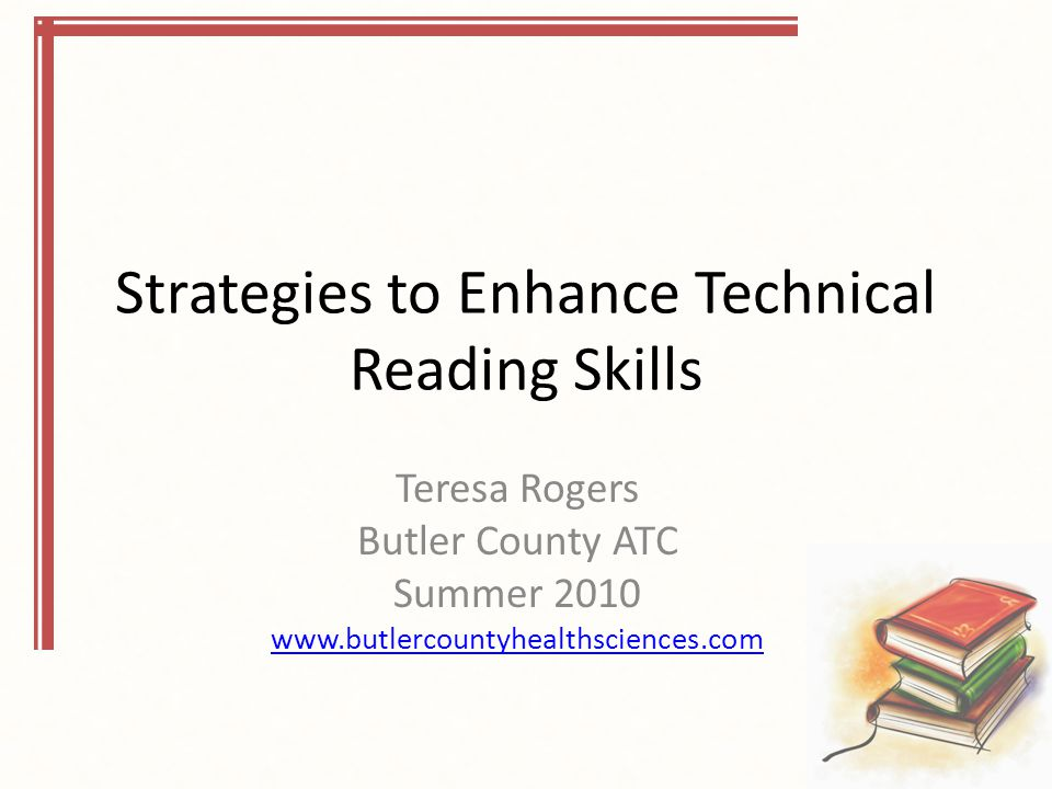Strategies to Enhance Technical Reading Skills