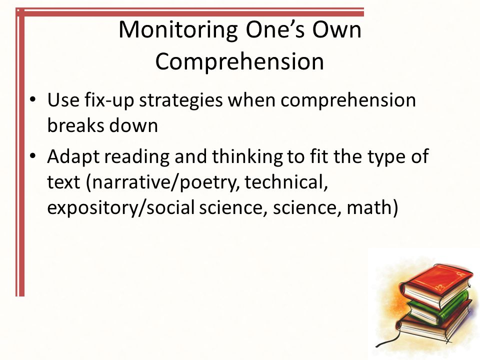 Monitoring One's Own Comprehension