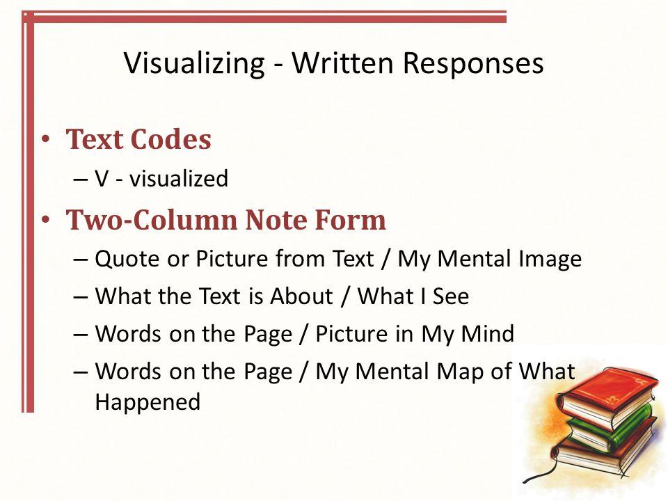 Visualizing - Written Responses