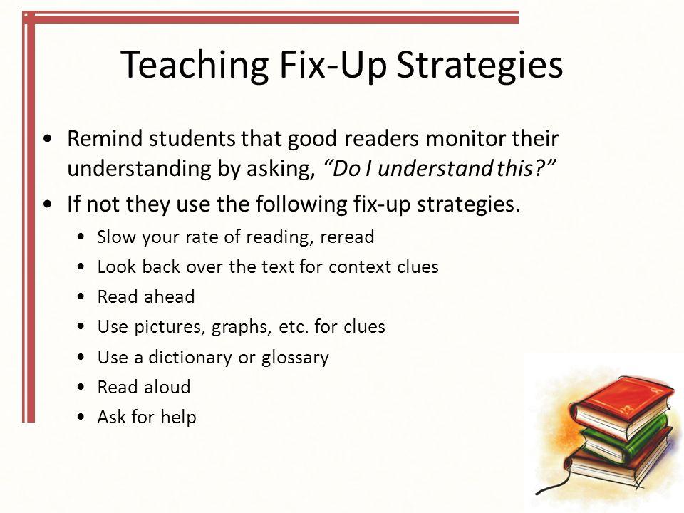Teaching Fix-Up Strategies