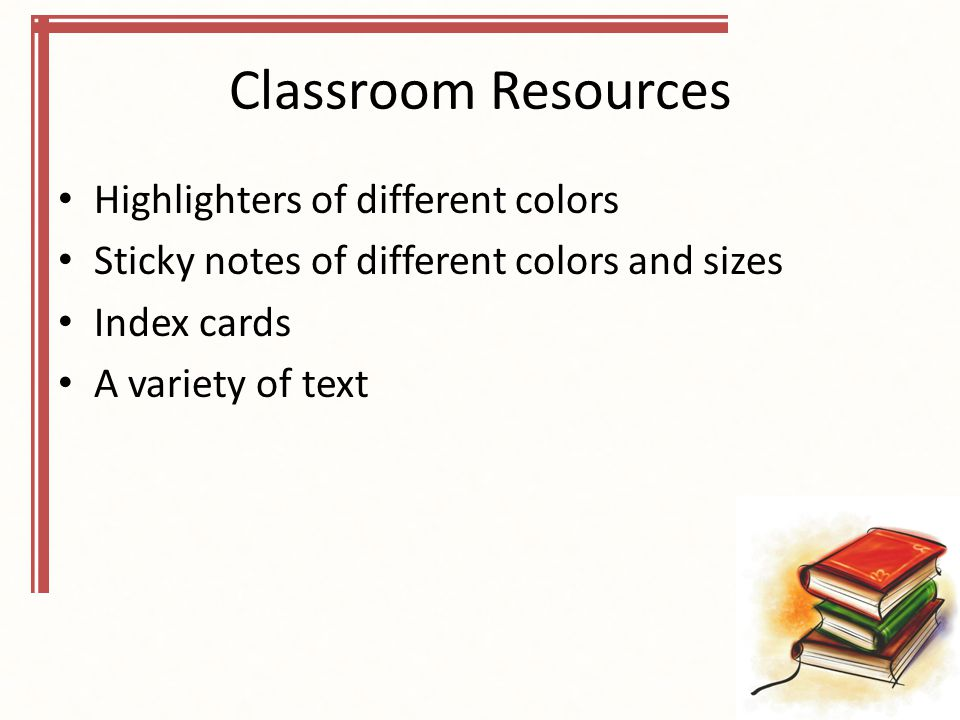 Classroom Resources Highlighters of different colors