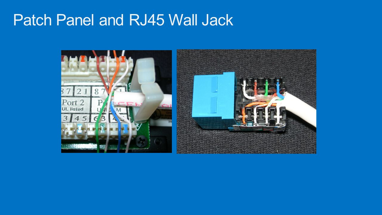 Patch Panel and RJ45 Wall Jack