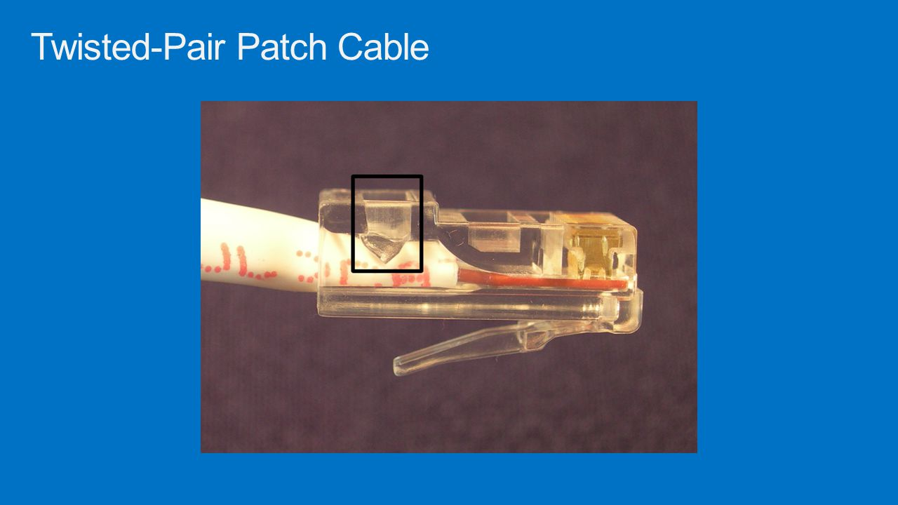 Twisted-Pair Patch Cable