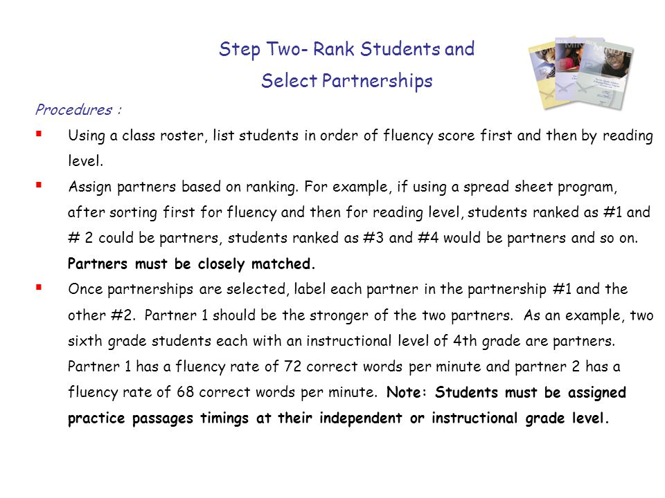 Step Two- Rank Students and