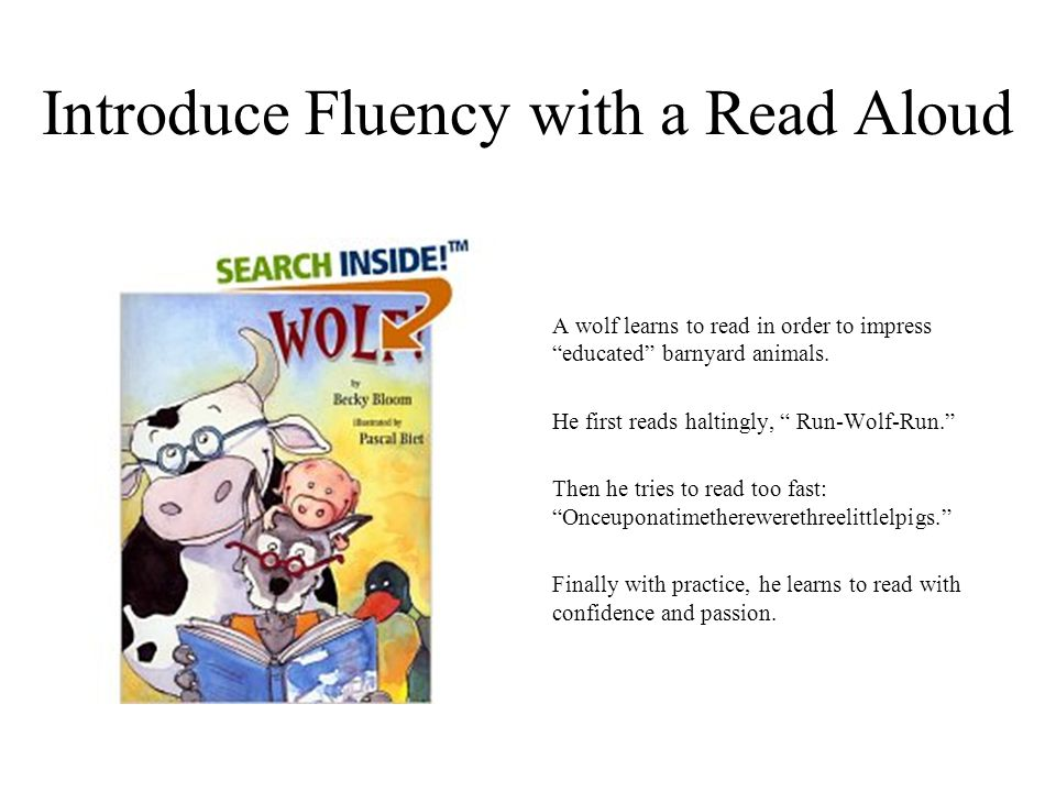 Introduce Fluency with a Read Aloud