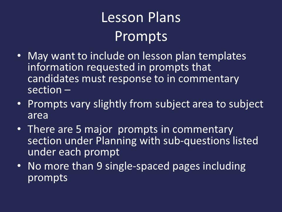 Lesson Plans Prompts