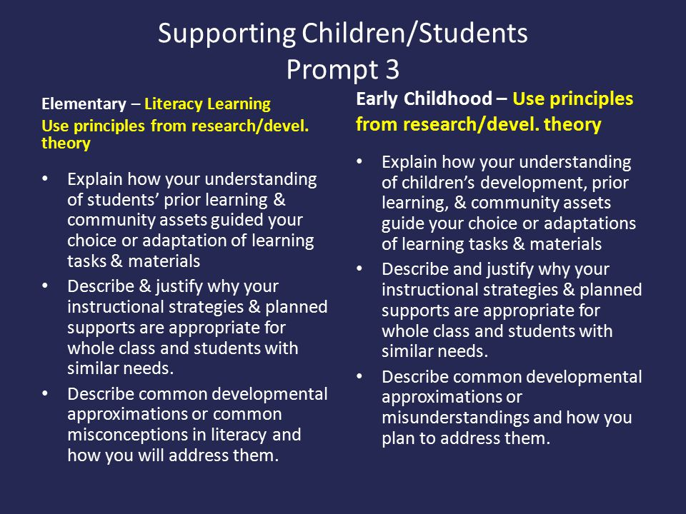Supporting Children/Students Prompt 3