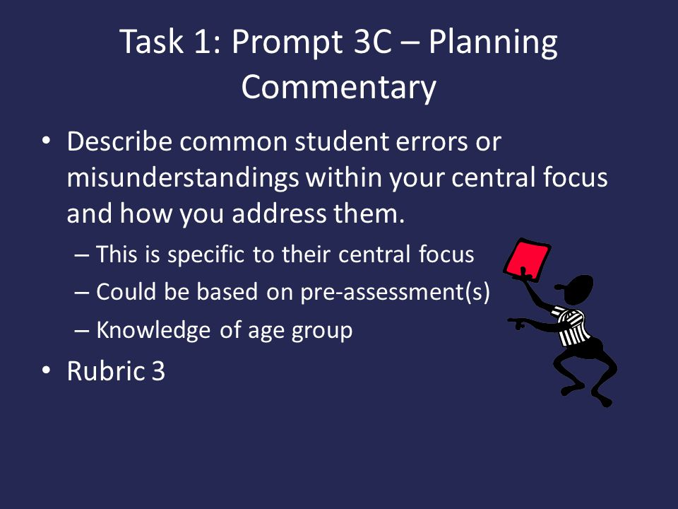 Task 1: Prompt 3C – Planning Commentary