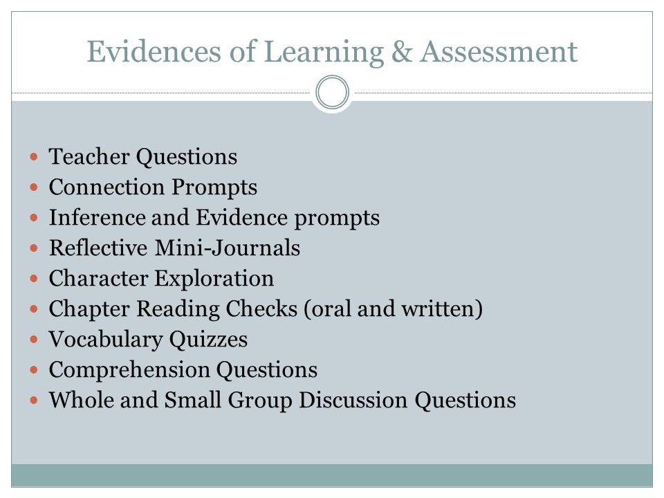 Evidences of Learning & Assessment