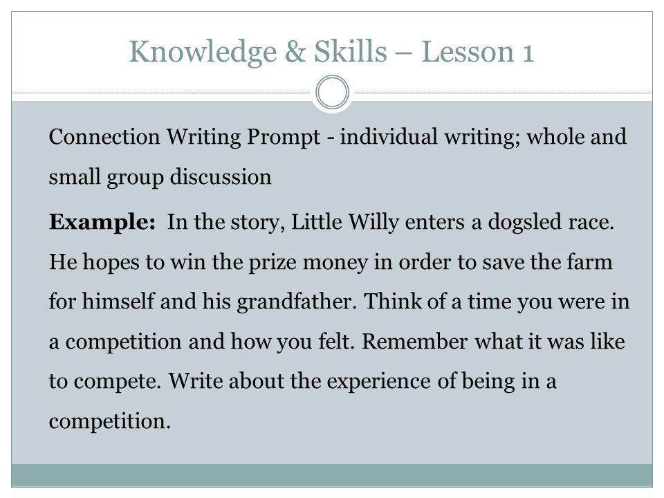 Knowledge & Skills – Lesson 1