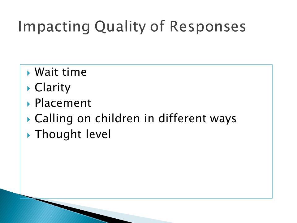 Impacting Quality of Responses