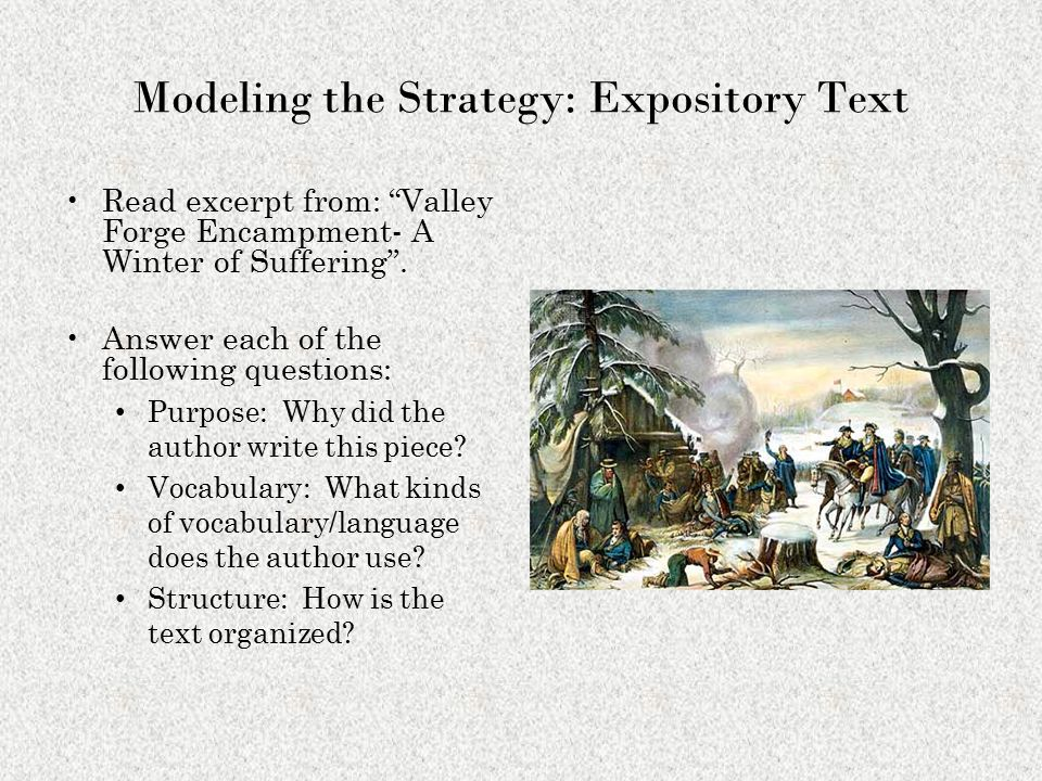 Modeling the Strategy: Expository Text