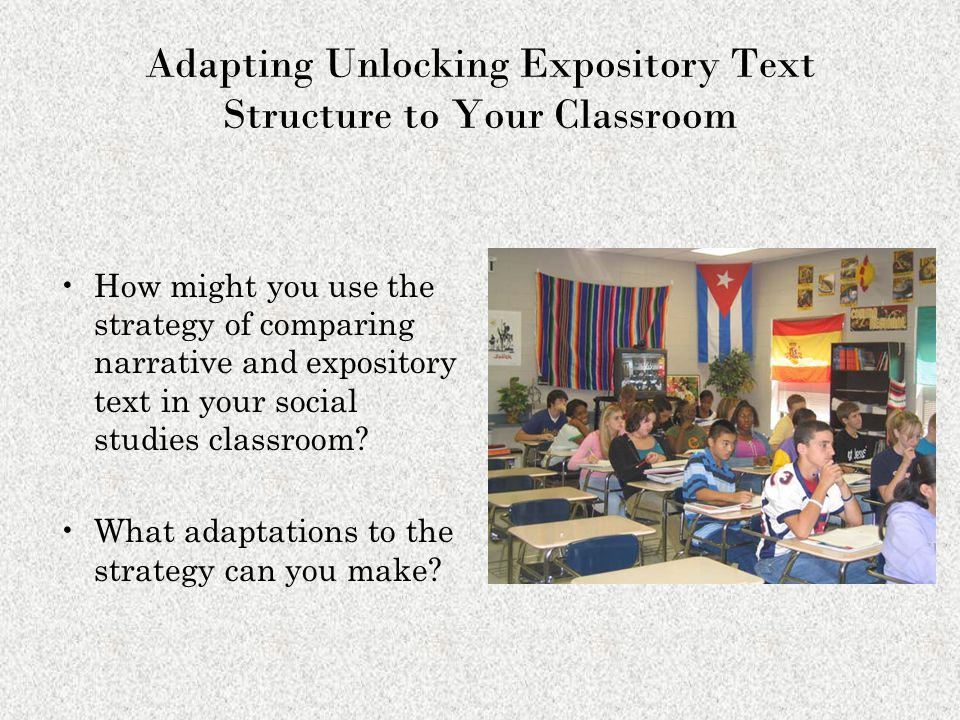 Adapting Unlocking Expository Text Structure to Your Classroom